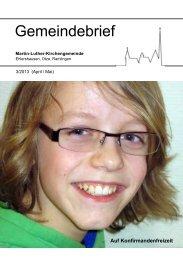 Gemeindebrief Nr. 3/2013 - Martin-Luther-Kirchengemeinde ...
