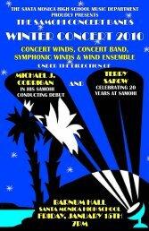 Winter Concert Program - Santa Monica High School Bands