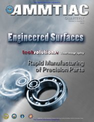 AMMTIAC Quarterly, Vol. 3, No. 2 - Engineered Surfaces - Advanced ...
