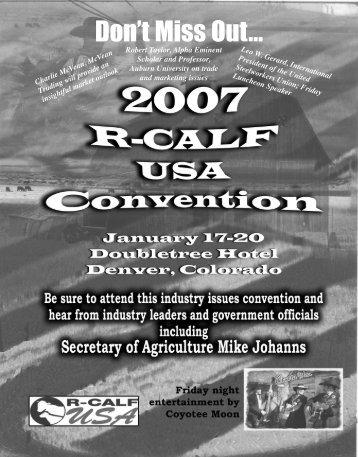 January 2007 - R-Calf