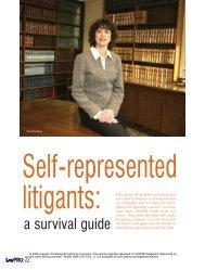 Surviving SRLs (LAWPRO Magazine Volume 5 ... - practicePRO.ca