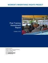 Post Training Assessment Report - Kelin
