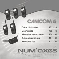Guide d'utilisation Fr - 3 User's guide Gb - 19 Manual de ... - Num'Axes