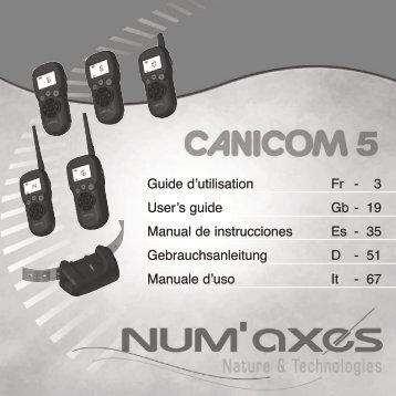 Guide d'utilisation Fr - 3 User's guide Gb - 19 Manual de ... - Num'Axes