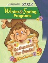 Winter, Spring, 2012, Children's Program Brochure - Sachem Public ...