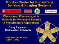 Wave-based Electromagnetic Methods for Homeland Security and ...