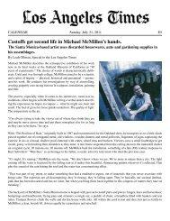 Castoffs get second life in Michael McMillen's hands. - LA Louver
