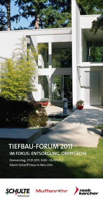TIEFBAU-FORUM 2011 - Raab Karcher