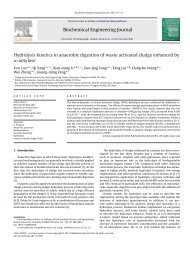 Hydrolysis kinetics in anaerobic digestion of waste activated sludge ...