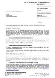 (DMP) Brustkrebs in Hessen – gesetzliche Änderungen, 12.07.2013