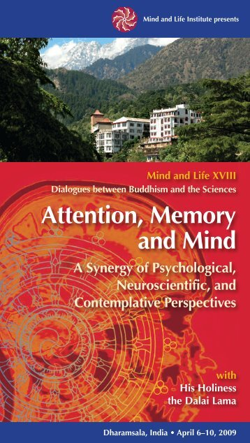 to view the brochure from the conference (PDF). - Mind & Life Institute