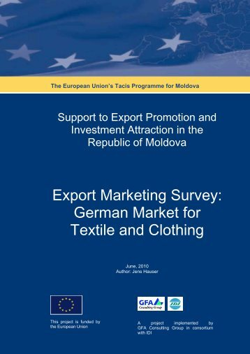 Export Marketing Survey: German Market for Textile and Clothing