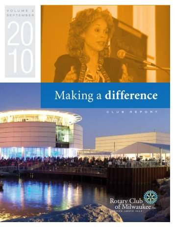 Making a difference - Rotary Club of Milwaukee