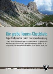 Die große Touren-Checkliste - RABE Bike