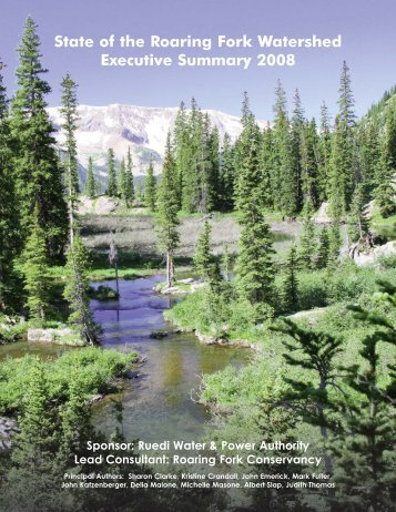 Executive Summary of the 2008 State of the Watershed Report
