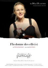 Flo donne des elle(s) - Théâtre du Passage
