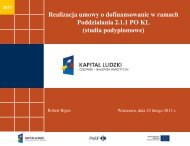 Kontrola realizacji projektu - Polska Agencja Rozwoju ...
