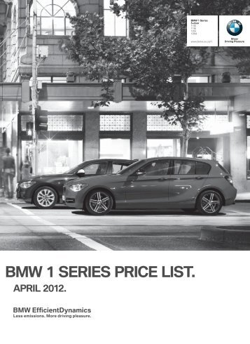 Bmw 1 series price list.