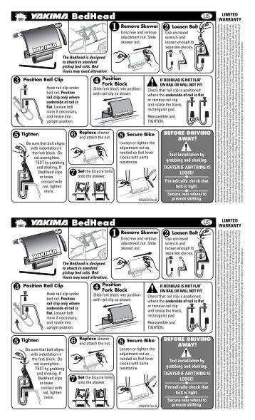 yakima bike rack instruction manual