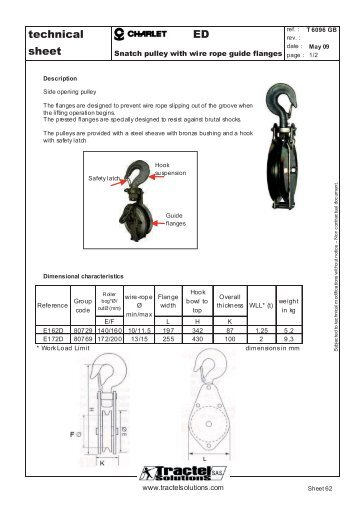 Fine Wire Rope Imprint On Sheave Gift - Simple Wiring Diagram ...