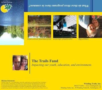 Trails Fund Brochure (PDF) - Winding Trails