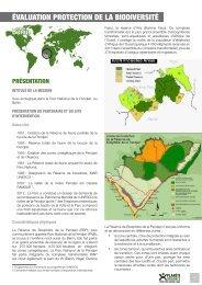 Suivi écologique dans le Parc National de la ... - Planète Urgence