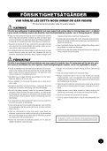 Bruksanvisning - Yamaha - Page 3