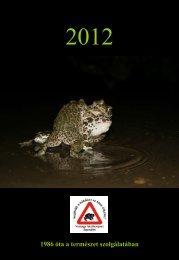 A Varangy Akciócsoport Egyesület 2012 naptára
