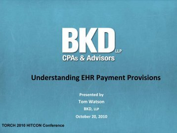 Understanding EHR Payment Provisions