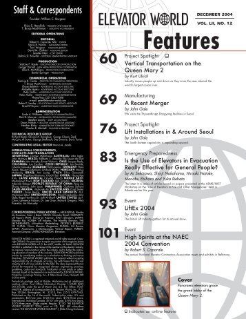 Features - Elevator World