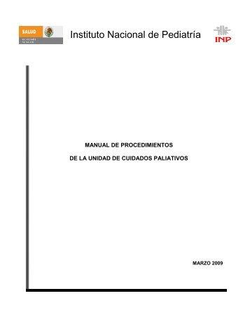 Manual de Procedimientos de la Unidad de Cuidados Paliativos