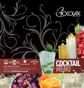 to view our cocktail menu - Bar Chocolate