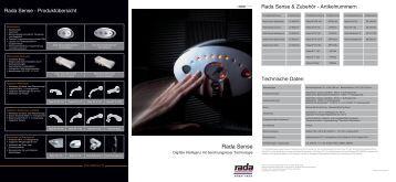 Rada Sense Elektronikarmatur 4,7MB - Rada Armaturen GmbH