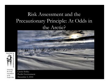 Risk Assessment and the Precautionary Principle - IARC Research