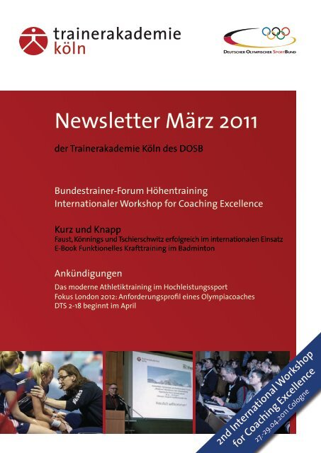 Newsletter März 2011 - Frontcourt