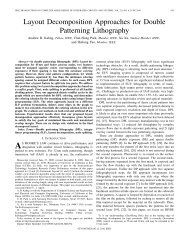 Layout Decomposition Approaches for Double Patterning Lithography