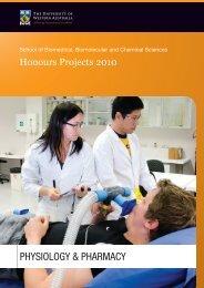 PHYSIOLOGY & PHARMACY - The University of Western Australia