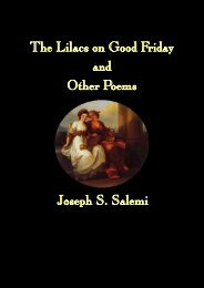 The Lilacs on Good Friday by Joseph S. Salemi - The New Formalist