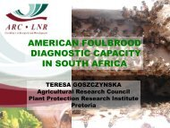 AMERICAN FOULBROOD DIAGNOSTIC CAPACITY IN ... - OIE Africa
