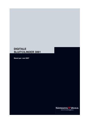 Handboek – Digitale Sluitcilinder 3061 - SimonsVoss technologies