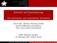 Sicherheit und Industriespionage - RedTeam Pentesting GmbH