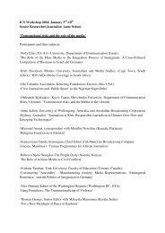 Download List of Participants (PDF) - Irmgard Coninx Stiftung