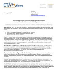Mobile Payments Committee released - Electronic Transactions ...