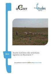 Quelle évolution des structures agraires en Roumanie - aGter
