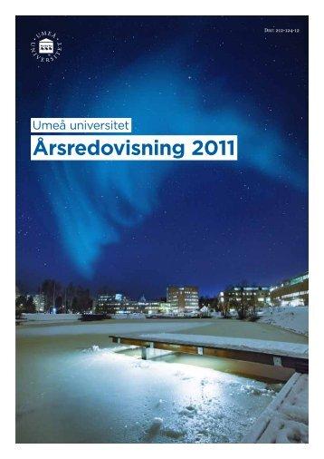 Årsredovisning 2011 - Umeå universitet