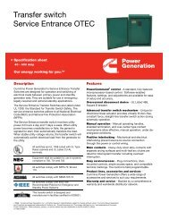 Transfer switch Service Entrance OTEC