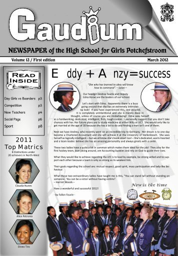 My German Adventure - The High School for Girls Potchefstroom