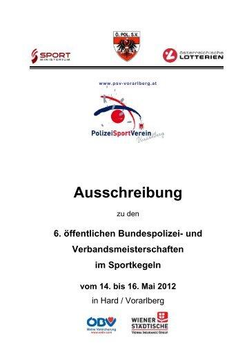 komplette Ausschreibung zum Download - PSV Vorarlberg
