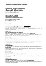 Open Air Kino 2006.rtf - Kulturzentrum Pelmke