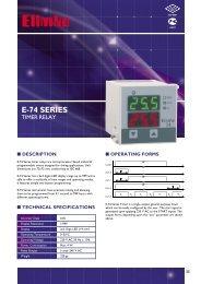 E-74 Series Timer Relays - Elimko